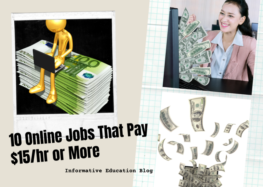 10 Online Jobs That Pay $15/hr or More (for Students in 2021)